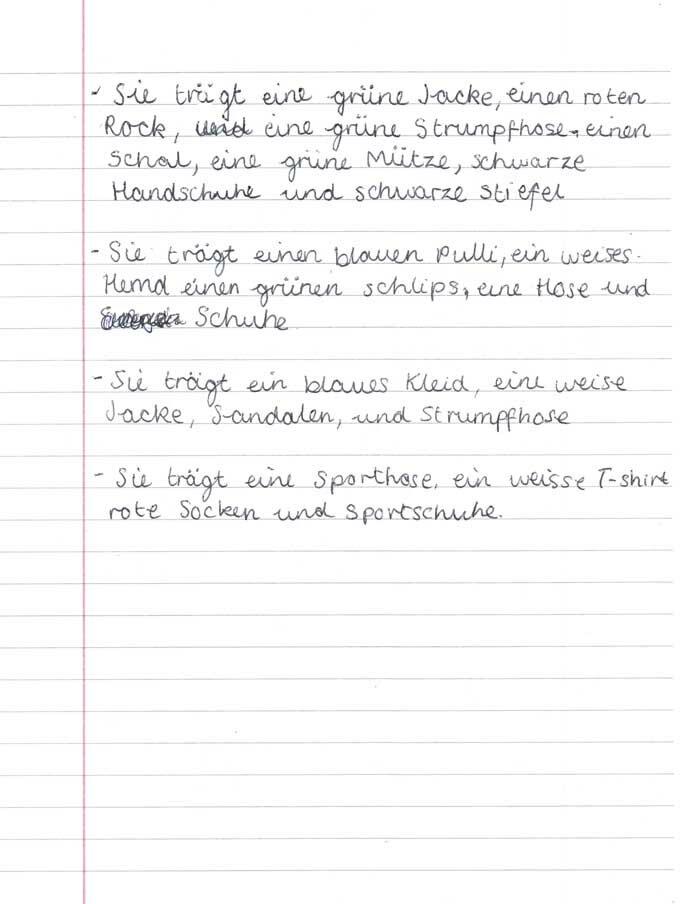 German exemplification standards file level 4 | MFL German ...